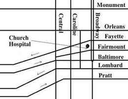 Edgar Allan Poe Society of Baltimore - Baltimore - Church ... on map of hawaii hospitals, map of johns hopkins hospital, map of chicago area hospitals, map of grand rapids hospitals, map of northern new jersey hospitals, map of johns hopkins hopkins, map of charlotte hospitals, map of texas hospitals, map of phoenix area hospitals, map of tacoma hospitals, map of northeast ohio hospitals, map of lubbock hospitals, map of brisbane hospitals, map of seattle area hospitals, map of west michigan hospitals, map of walter reed national medical center, map of florida hospitals, map denver hospitals, map of orange county hospitals, map of boston area hospitals,