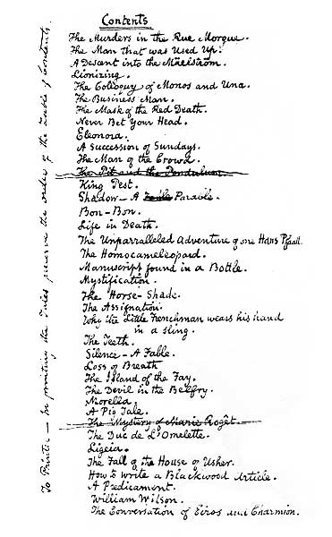 Phantasy Pieces (about 1842) - table of contents