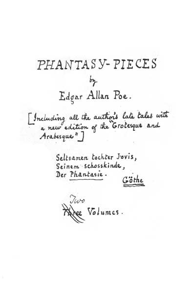 Phantasy Pieces (about 1842) - title page