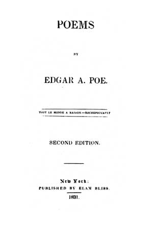 Poems (1831) - title page