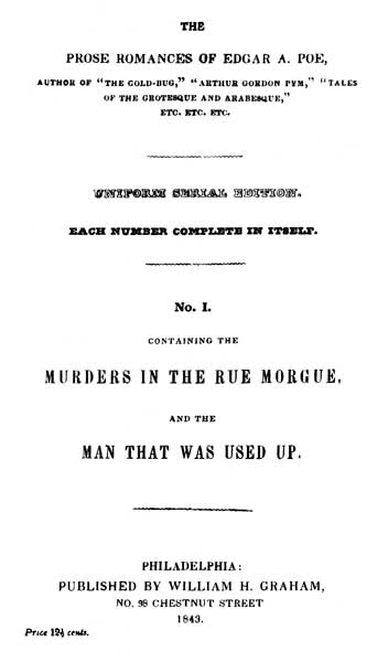 The Prose Romances (1840) - title page