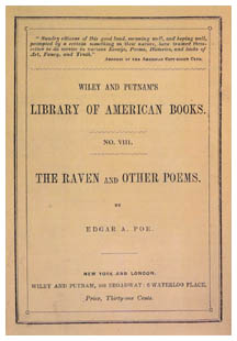 Edgar Allan Poe - The Raven and Other Poems (1845) - Front and back covers