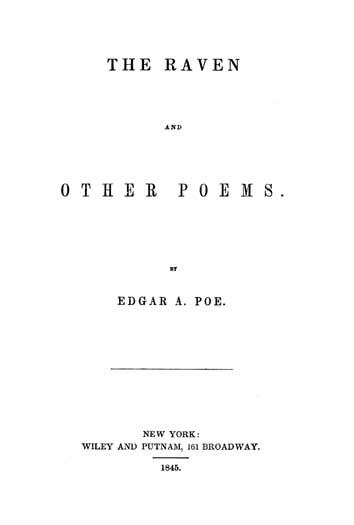 The Raven and Other Poems (1845) - title page