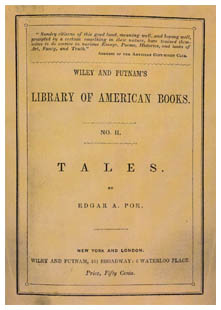 Edgar Allan Poe - Tales (1845) - front cover