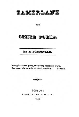 Tamerlane and Other Poems (1827) - title page