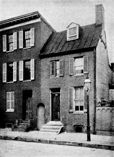 Poe's house at 203 N. Amity Street, Baltimore, MD